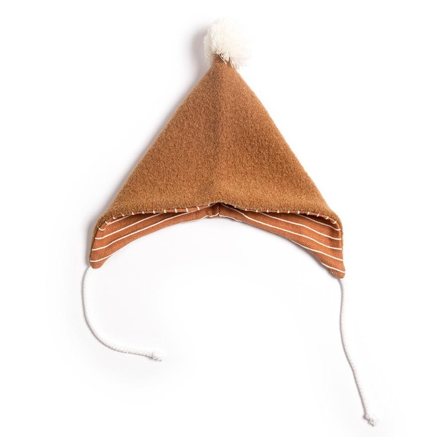 Monkind - Babymütze mit Bommel Terracotta