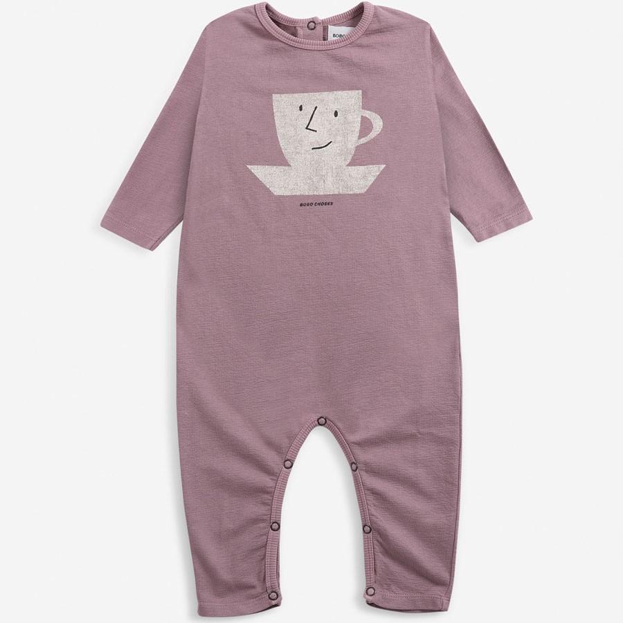 Bobo Choses - Fleece Babystrampler Cup of Tea
