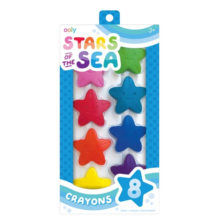 "OOLY - 8 Wachsmaler ""Stars of the Sea Starfish"" in Sternform"