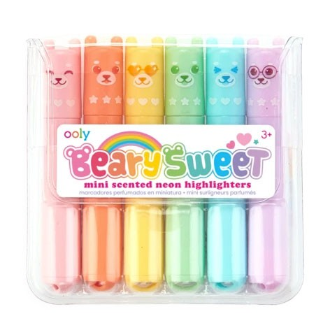 """OOLY - 6 Mini Neon Marker """"Beary Sweet"""" mit Duft"""