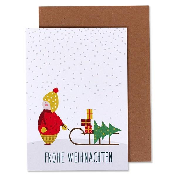 """Ava & Yves - Klappkarte """"Winterjunge"""""""