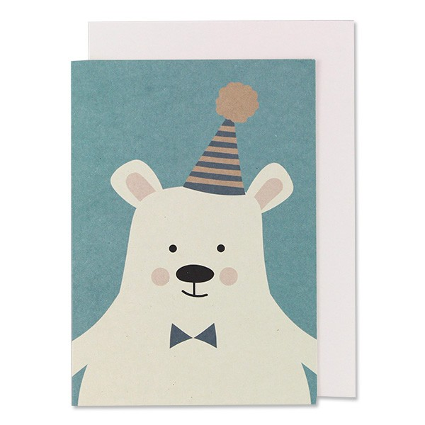 Ava & Yves - Klappkarte Eisbär