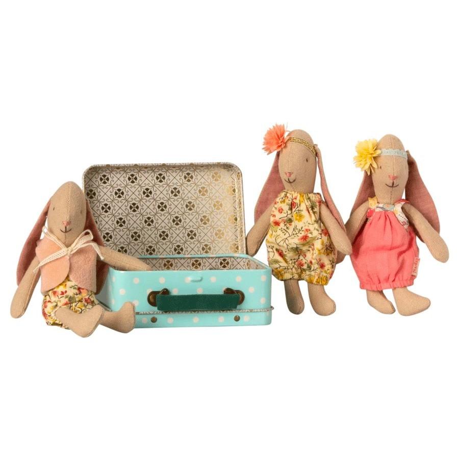 Maileg - Kleiner Hase mit Anziehset und Koffer