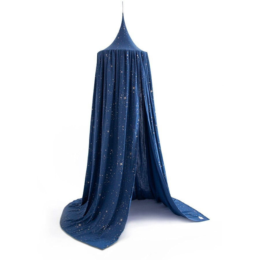 Nobodinoz - Betthimmel Gold Stella Blue