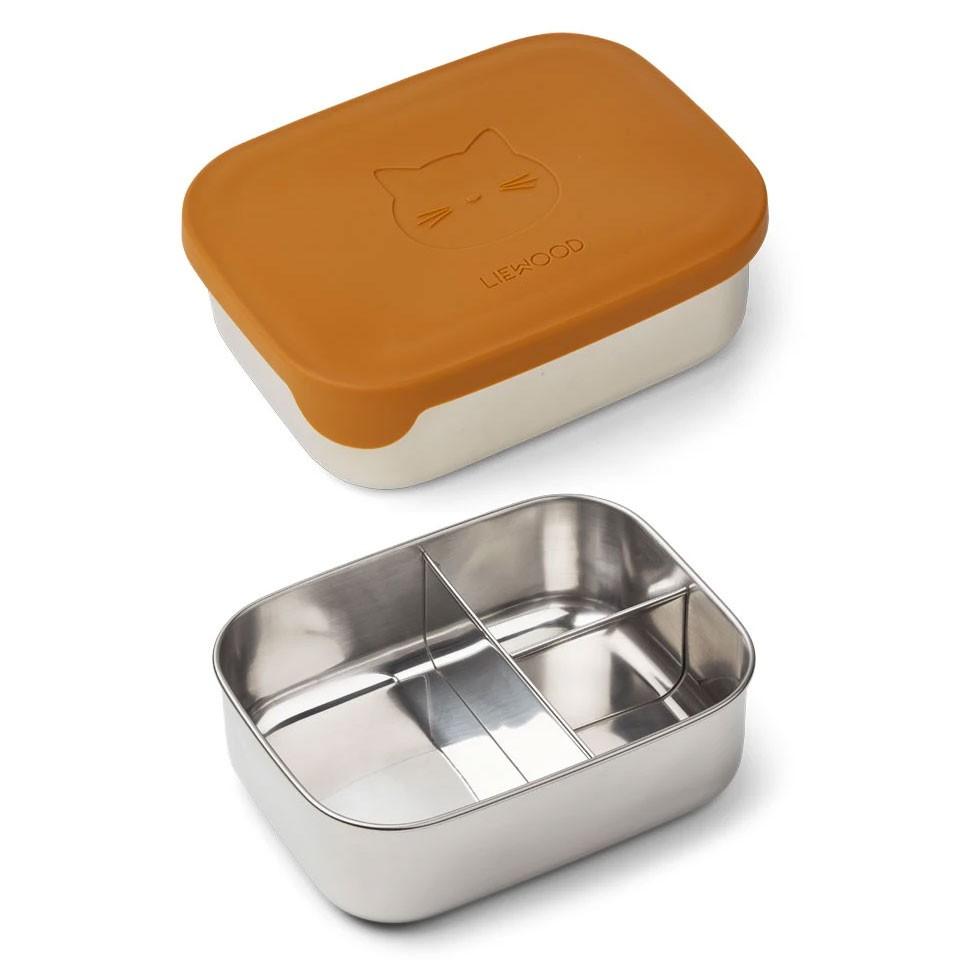 Liewood - Arthur Lunch Box Katze Senffarben