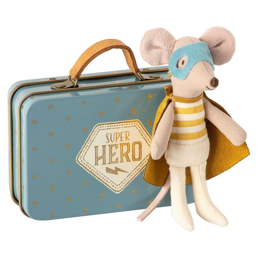 Maileg - Kleine Superheld Maus mit Koffer