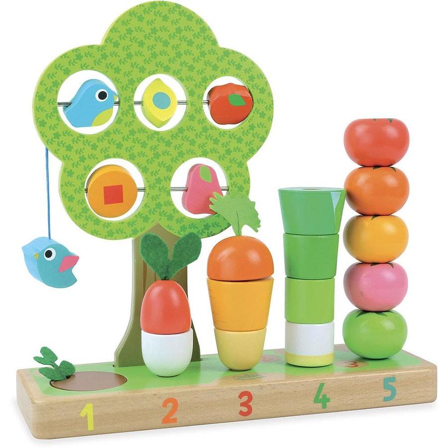Vilac - Spiel Ich lerne zählen mit Gemüse