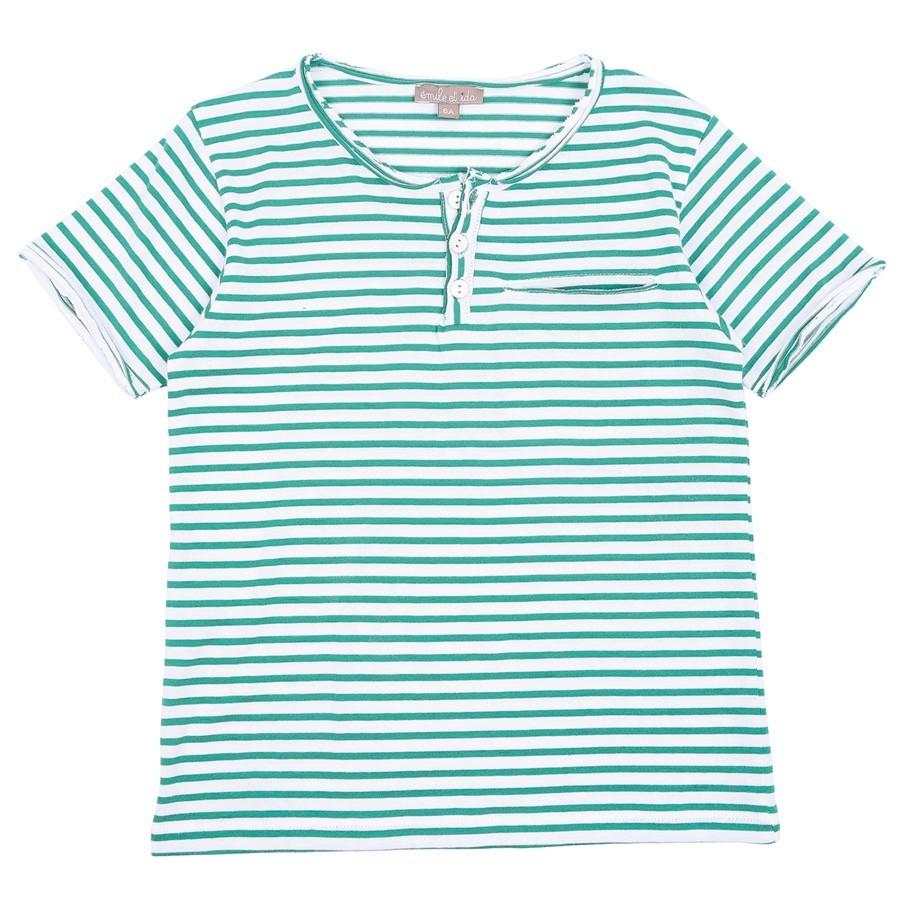 Emile et Ida - Gestreiftes T-Shirt mit Brusttasche