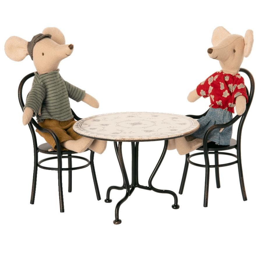 Maileg - Esstisch Set mit 2 Stühlen