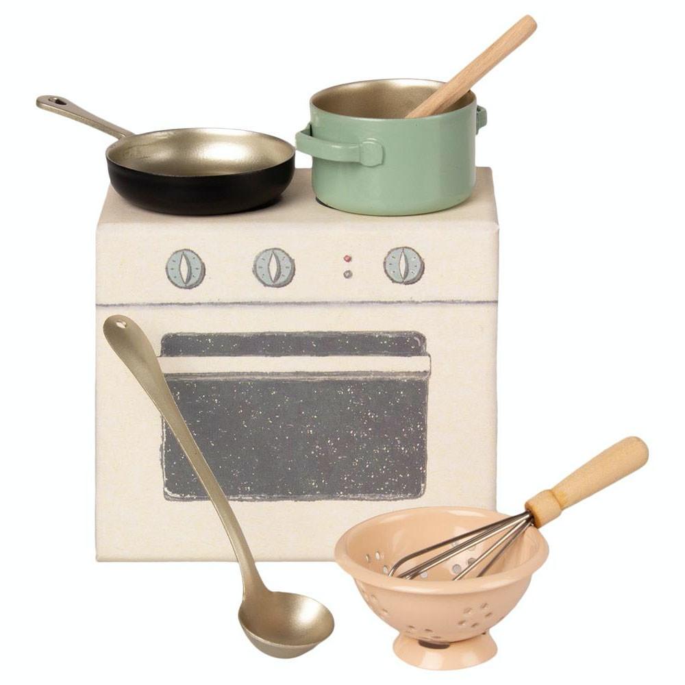 Maileg - Kochzubehör für Puppenhaus