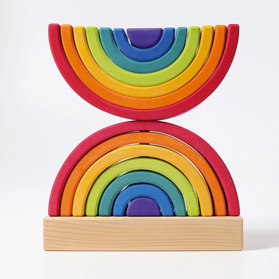 Grimm's Spielzeug - Regenbogen Steckturm