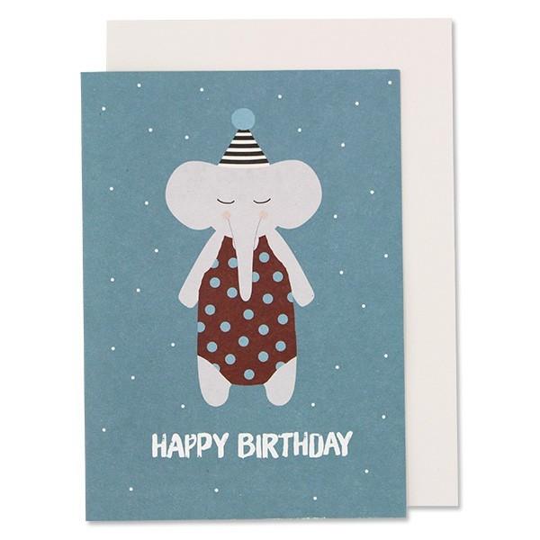 """Ava & Yves - Klappkarte """"Happy Birthday Elefant"""""""