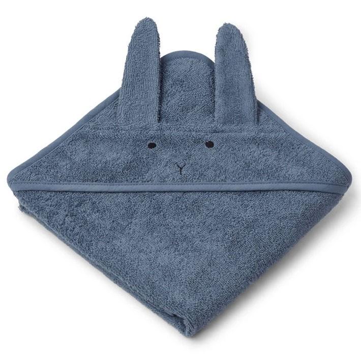 Liewood - Badetuch mit Kapuze Hase Blau