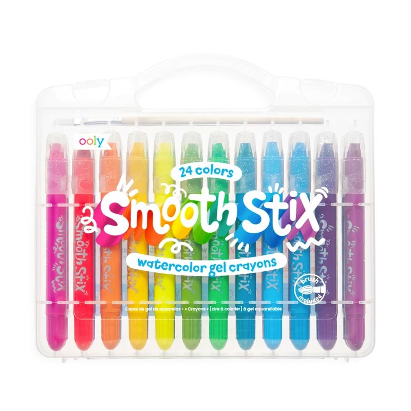 OOLY - Smooth Stix - 24 bunte Aquarell-Gelkreide-Farben