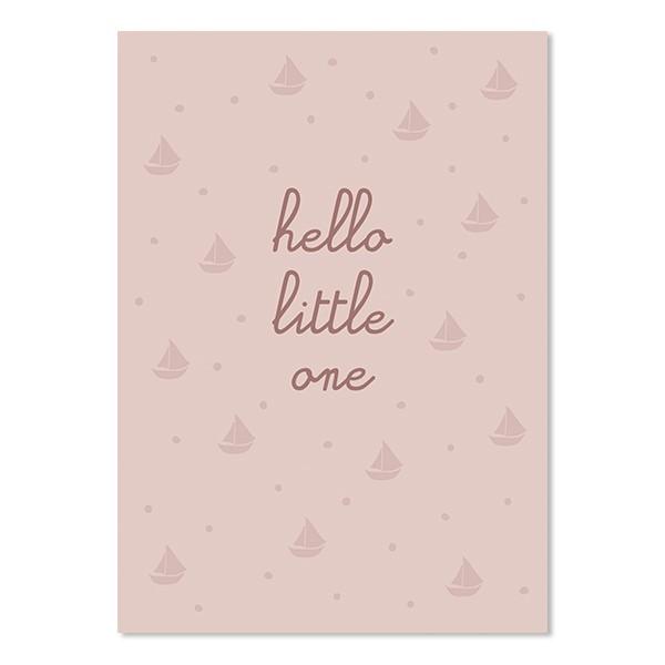 "Ava & Yves - Postkarte ""Hello Little One"""