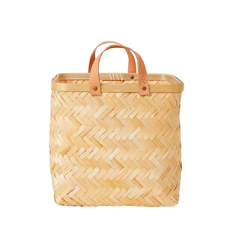OYOY - Quadratischer Korb aus Bambus