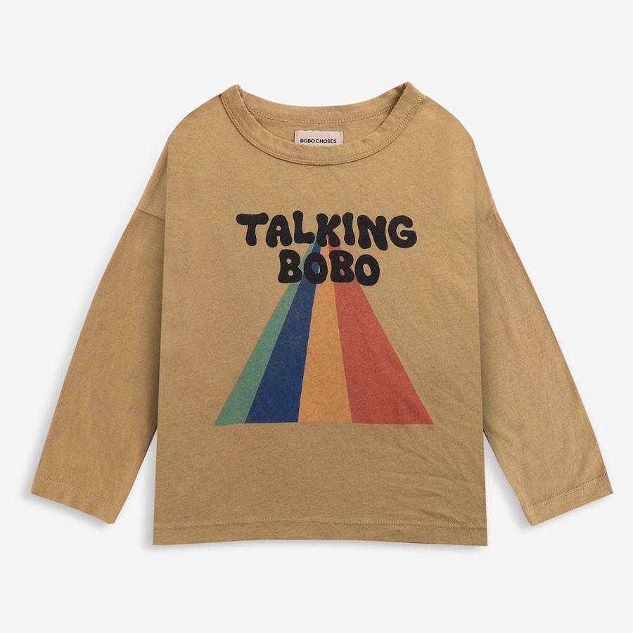 Bobo Choses - Long Sleeve Shirt Bobo Logo Apple Cinnamon