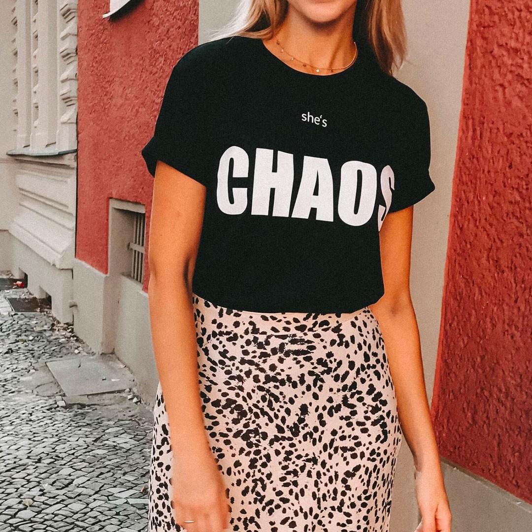 "Bad Moms Club - T-Shirt ""Chaos"" Schwarz"