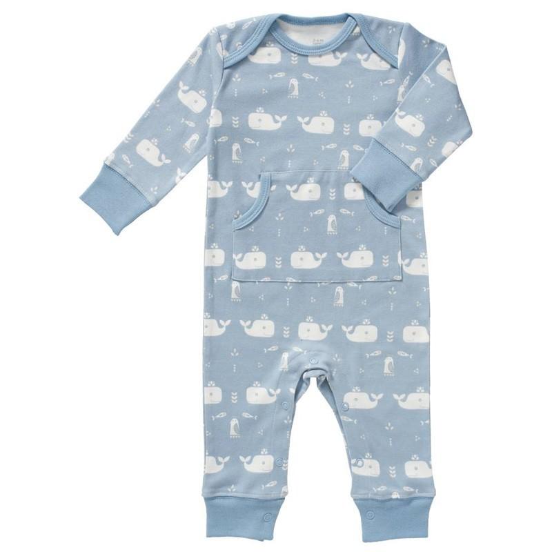 """Fresk - Babystrampler """"Wal"""" in Blau"""