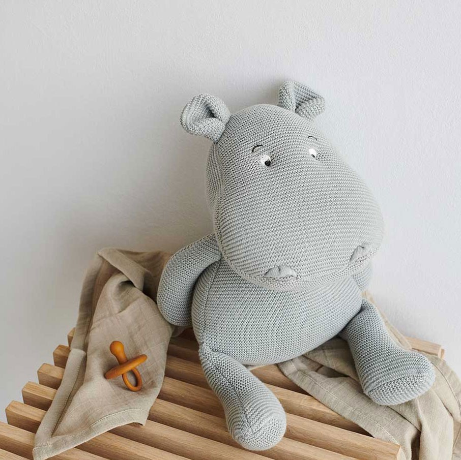 Liewood - Nilpferd Bo Hippo aus Biostrick Dove Blue