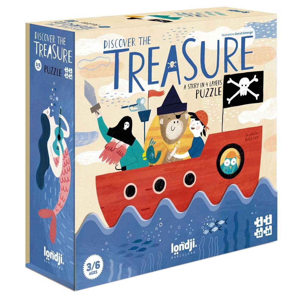 Londji - 4 Puzzles - Discover the Treasure