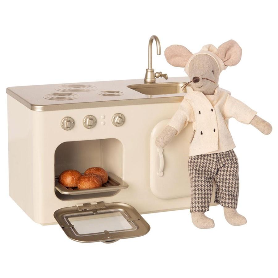 Maileg - Miniatur Küche aus Metall Puppenhaus