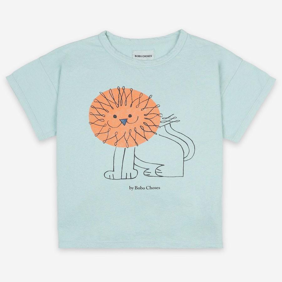 """Bobo Choses - T-Shirt """"Pet a Lion"""" Türkis ab zwei Jahre"""