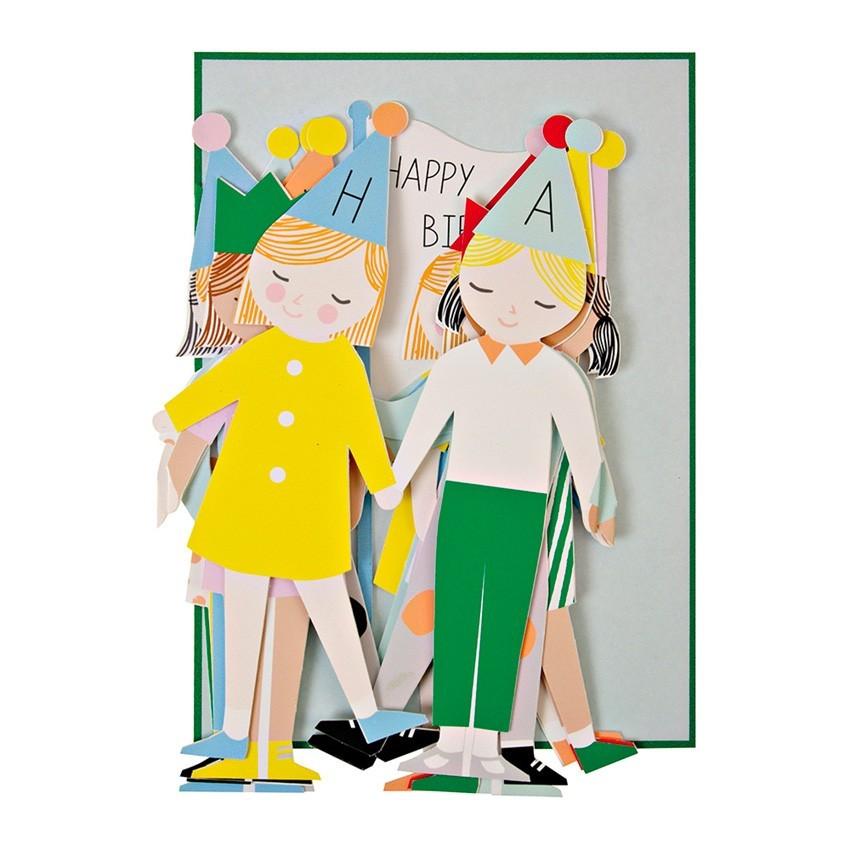 "Meri Meri - Karte ""Happy Birthday"" mit Faltfiguren"