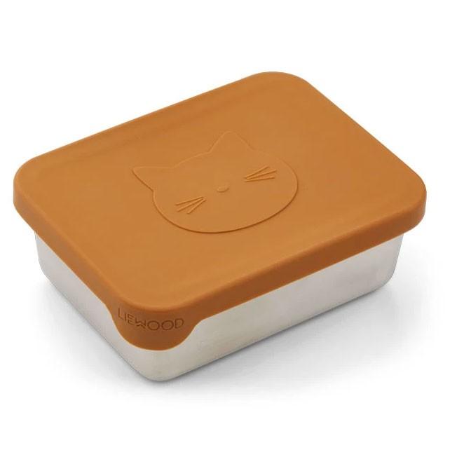 Liewood - Snackbox Ako Cat Mustard