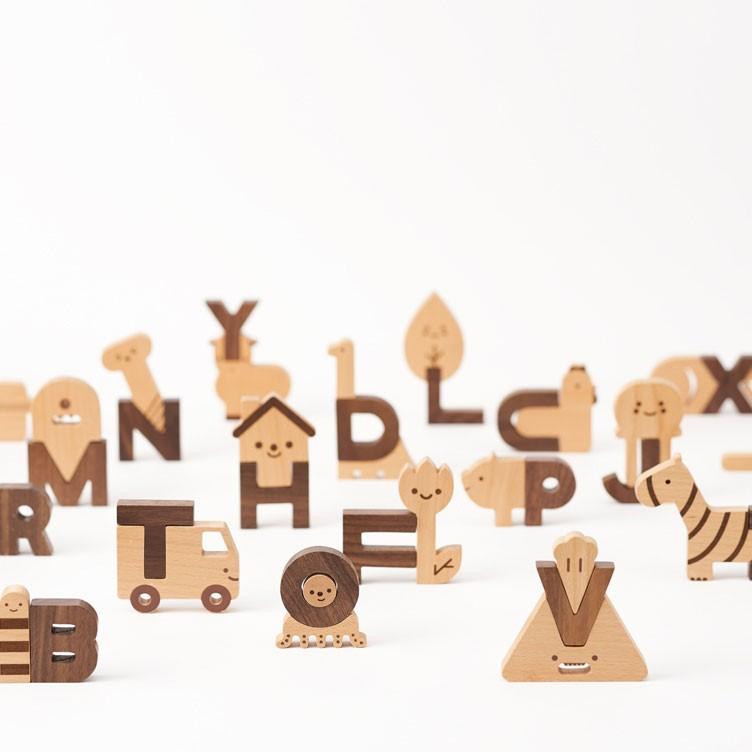Oioiooi - Exklusives Buchstabenset aus Holz