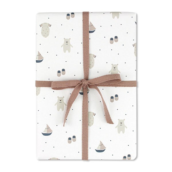 Ava & Yves - Geschenkpapier Eisbär