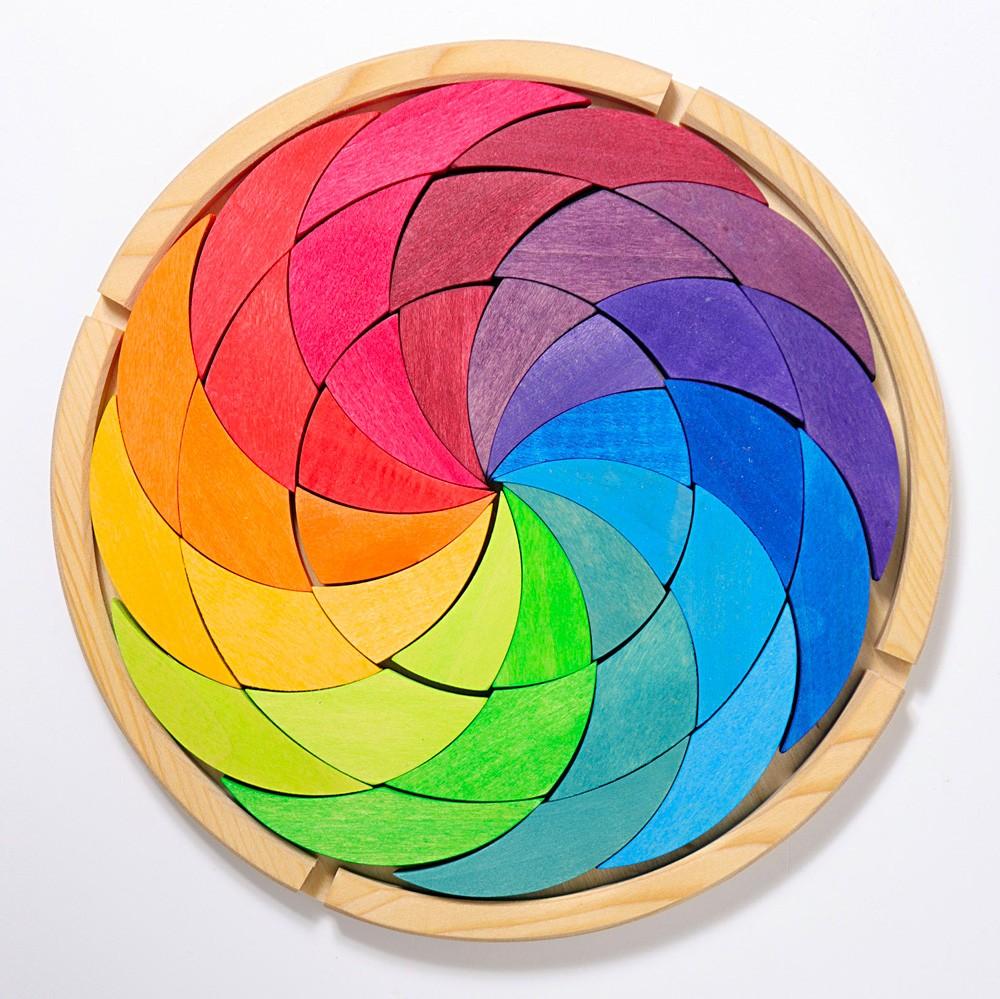 Grimm's Spielzeug - Bauspiel Farbenrad Regenbogen