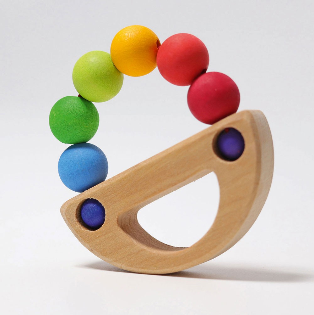 Grimm's Spielzeug - Greifling Regenbogen Schiff