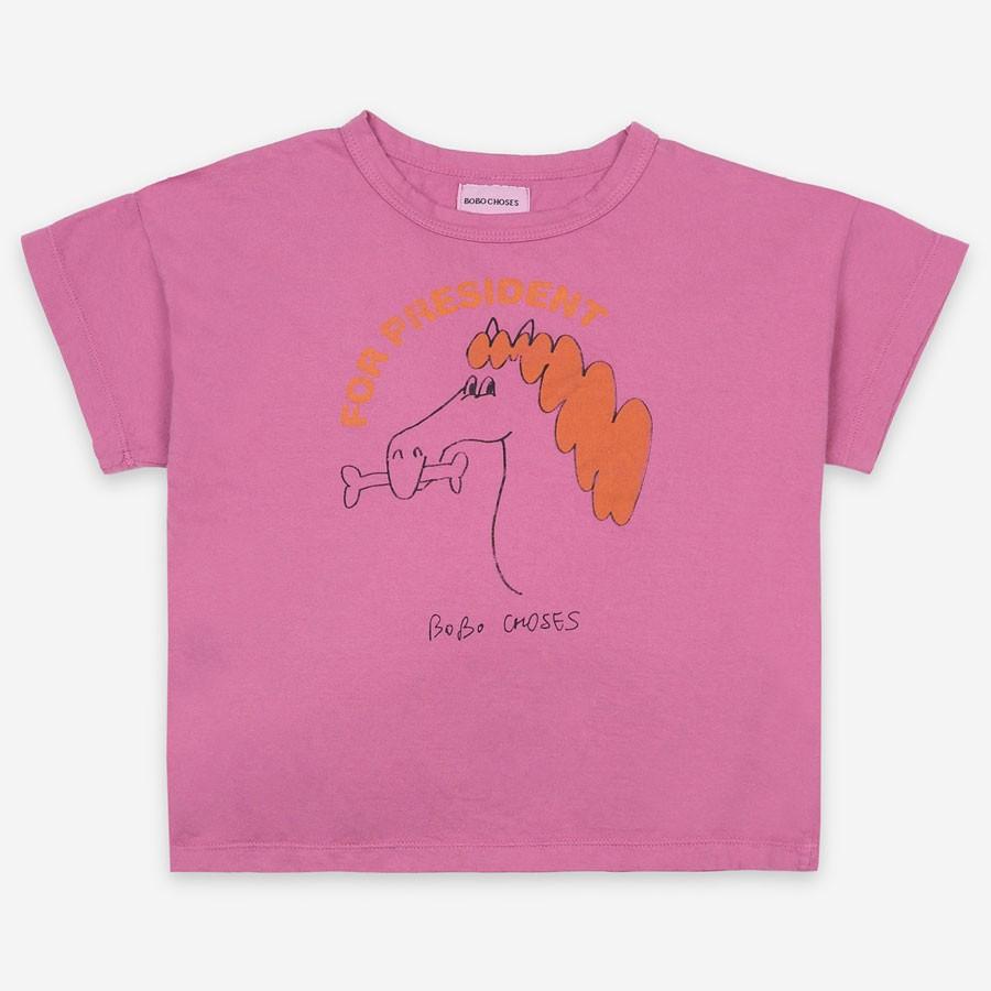 "Bobo Choses - T-Shirt ""Fetching Horse"" Pink"