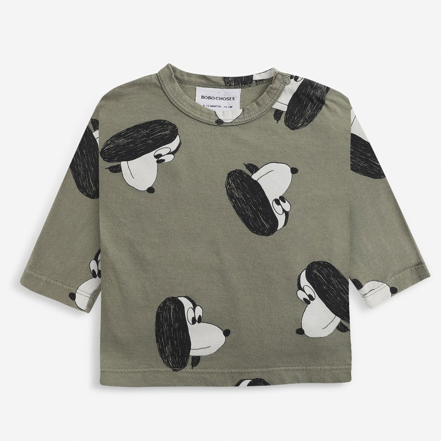 Bobo Choses - Baby Longsleeve Shirt Doggie All Over