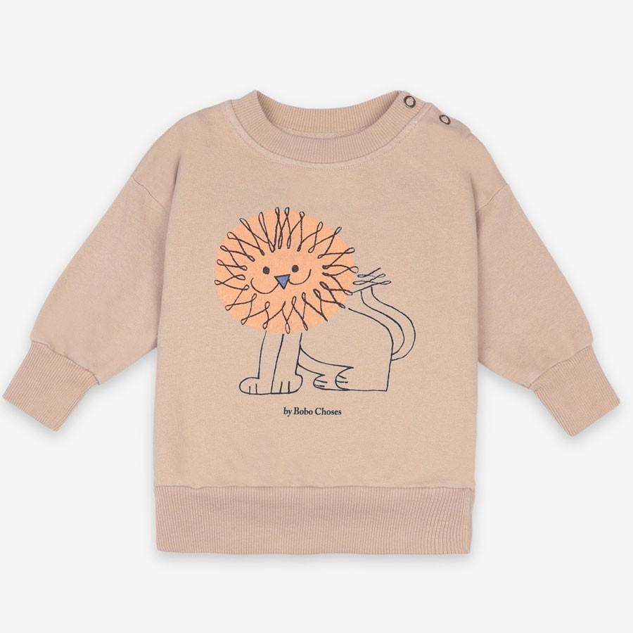 "Bobo Choses - Sweater ""Pet a Lion"" Beige"