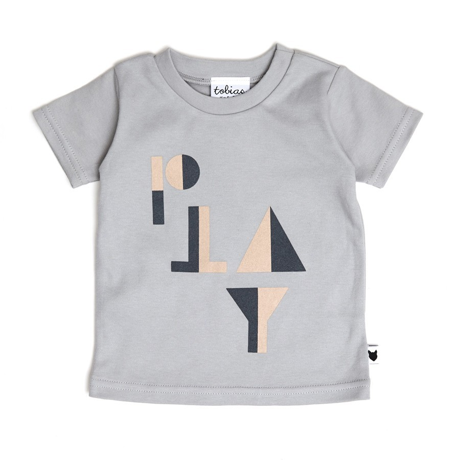 """Tobias & the Bear - T-Shirt """"PLAY"""" Grau"""