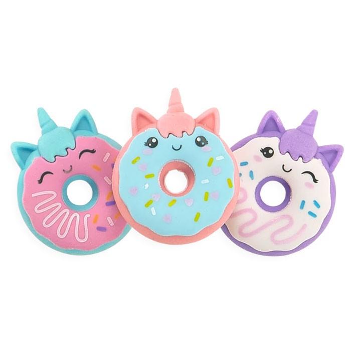 OOLY - 3 Radiergummis Einhorn Donuts
