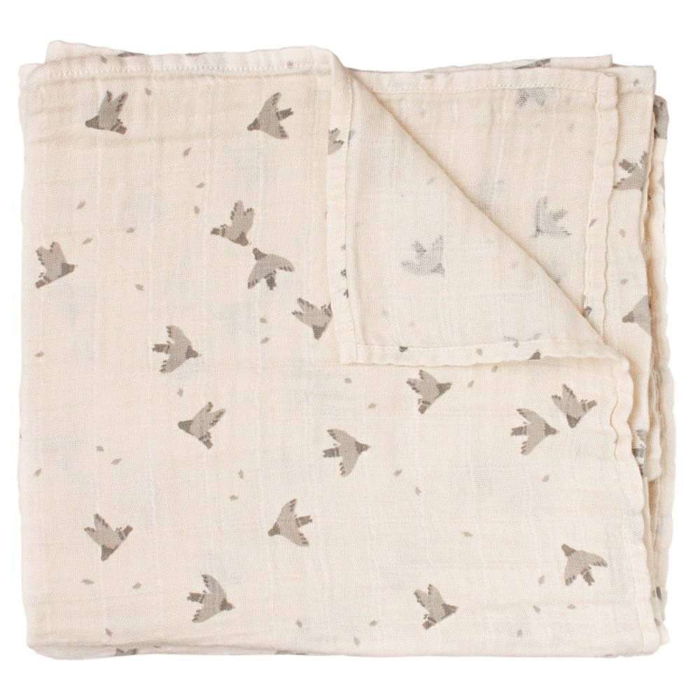 "Main Sauvage - Swaddle ""Pigeons"" 110 x 110cm"