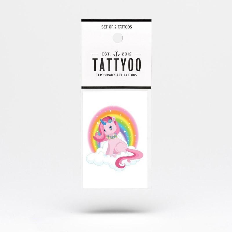 """Tattyoo - 2 Tattoos für Kinder """"Glitzer Einhorn"""""""