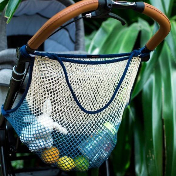 mara mea - Kinderwagennetz Blau