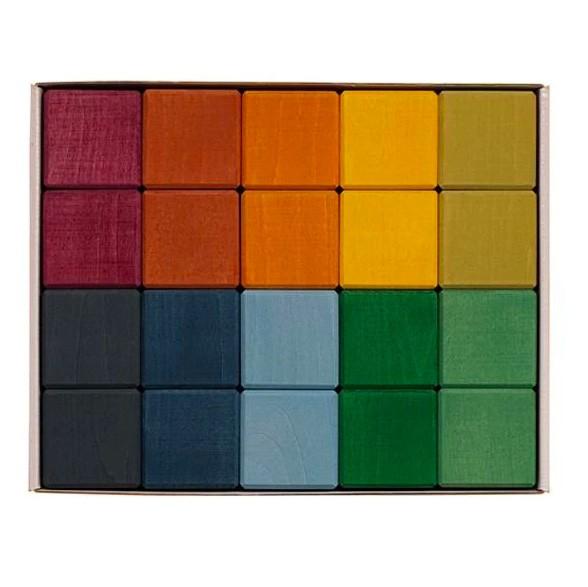 "Raduga Grez - 20 Bauklötze ""Earth Cubes"""