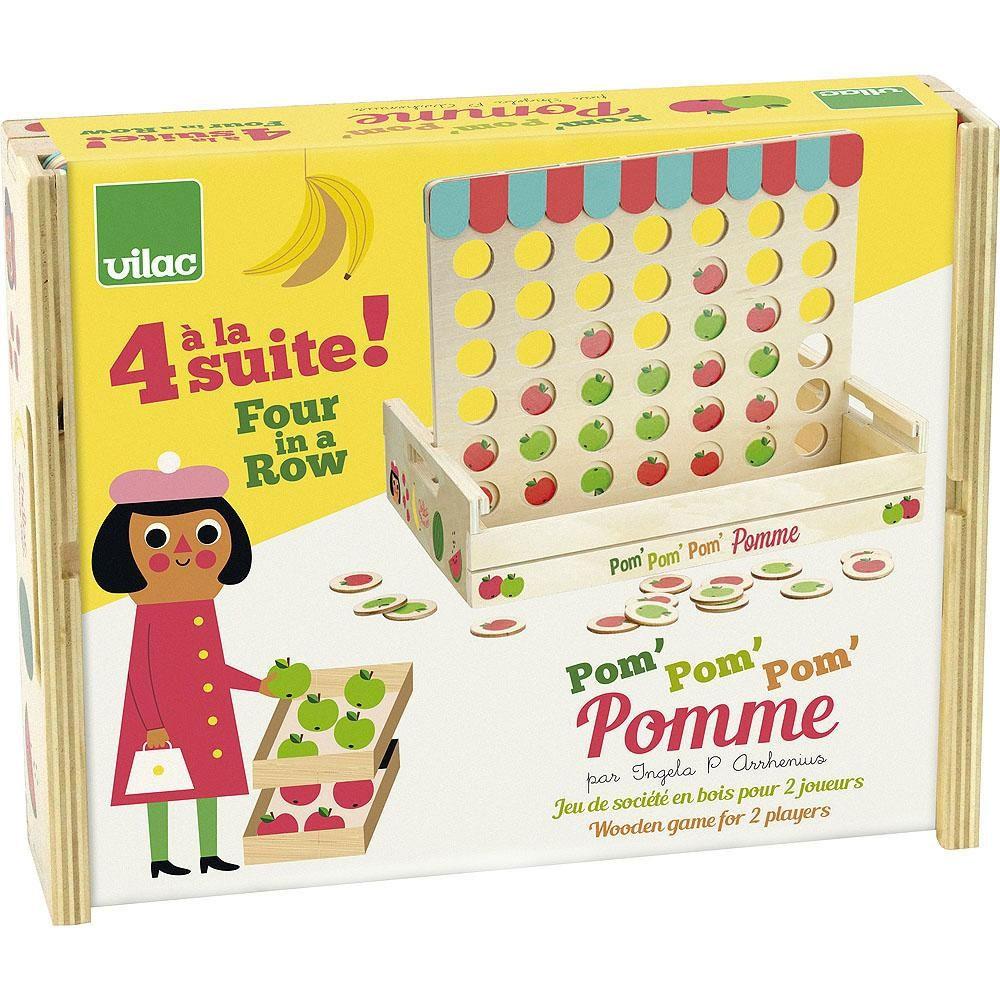 Vilac - 4 Äpfel in einer Reihe Spiel by Ingela P Arrhenius