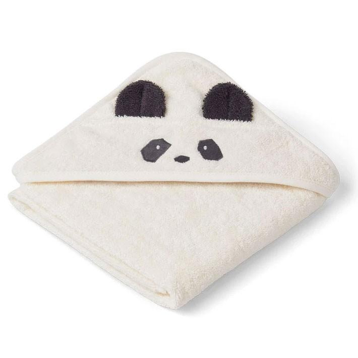 Liewood - Badetuch mit Kapuze Panda Albert Creme
