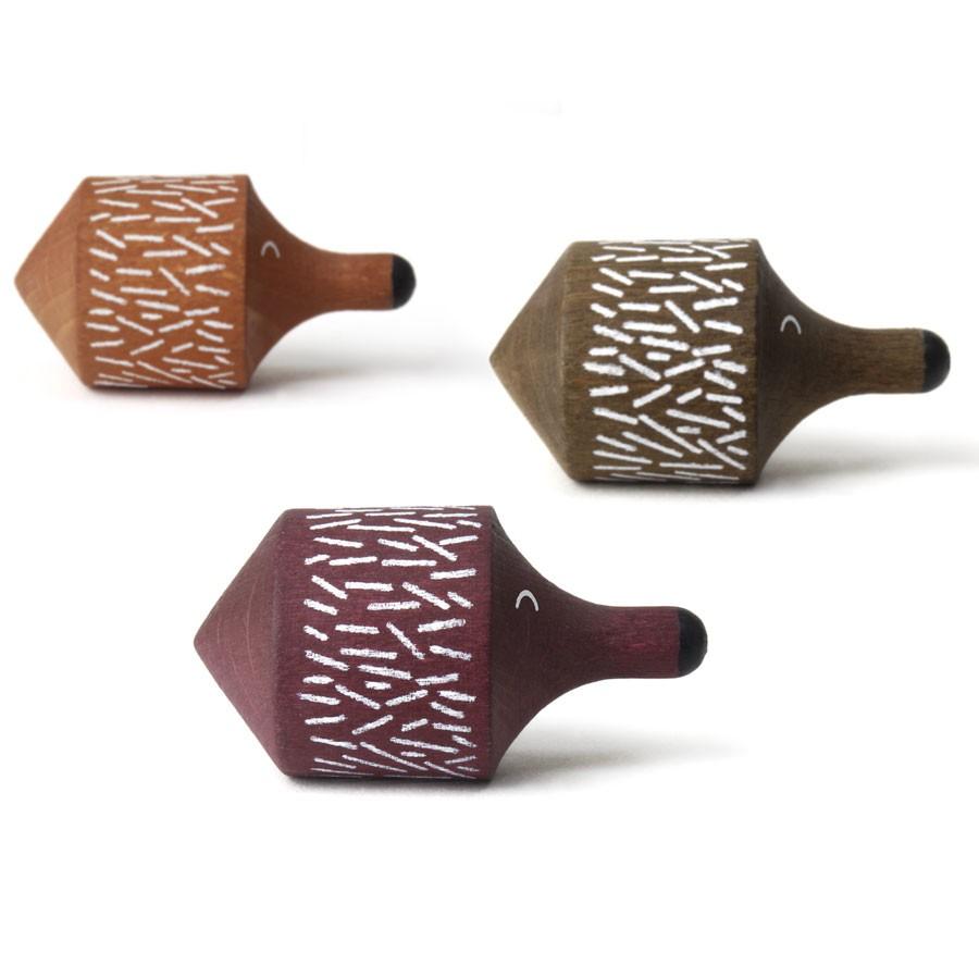 Londji - Kreisel Spiky Igel in drei Farben