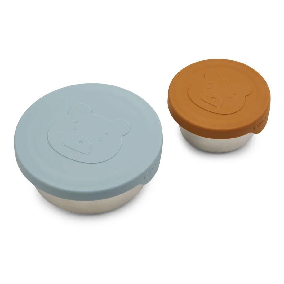Liewood - 2 Snackboxen Fiby Mr Bear Sea Blue