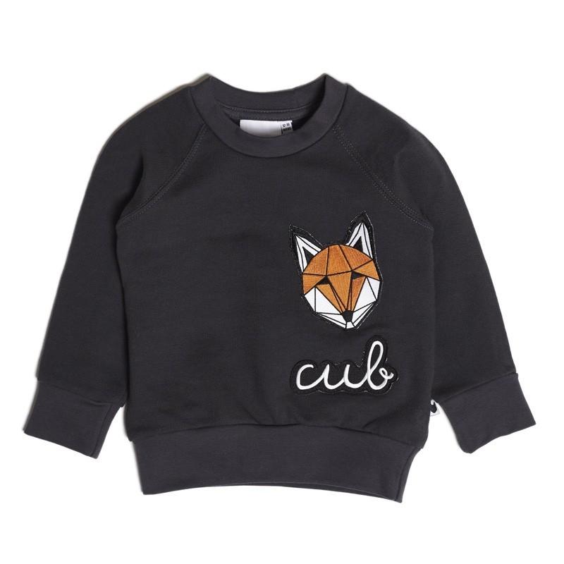 "Tobias & the Bear - Sweater ""Fuchs"" Dunkelgrau"