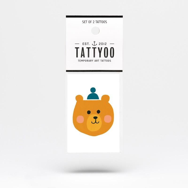 "Tattyoo - 2 Tattoos für Kinder ""Bär Björn"""