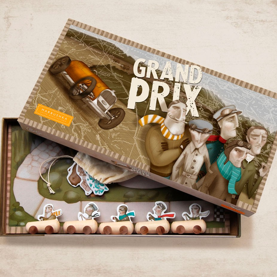 Marbushka - Brettspiel Grand Prix ab 6 Jahre