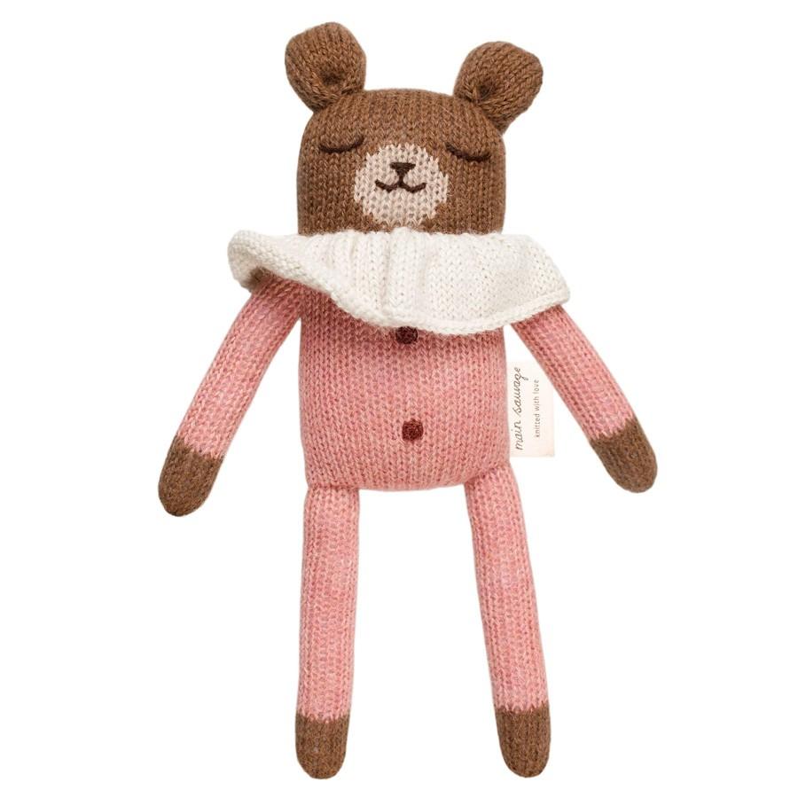 Main Sauvage - Teddy im Schlafanzug Rosa